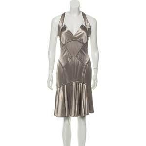 NWT Zac Posen Halter Mini Party Dress Stretch